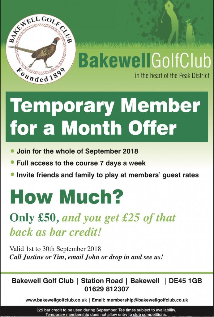 September 2018 offer